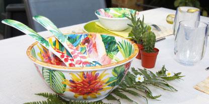 Servizi da tavola in melamina by Les Jardins de la Comtesse