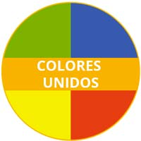 vajilla de melamina Tema Colores Unidos
