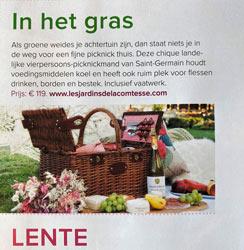 onze Saint-Germain picknickmand in een publicatie van De Boerin magazine