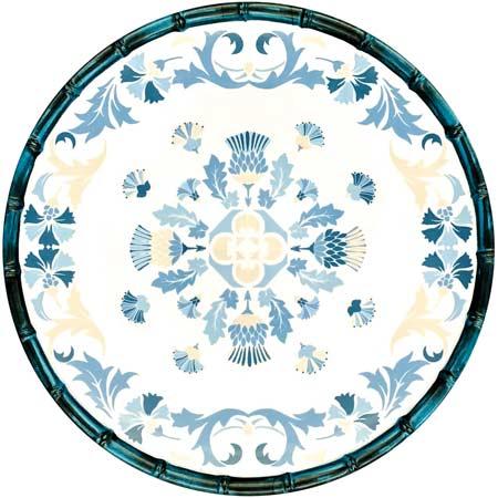 Grande Assiette Plate en mélamine pure - 28 cm - Lisbonne