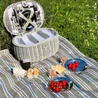 "Telo da picnic grigia XXL ""Versailles"" (280 x 140 cm)"
