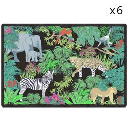 Placemat (45 x 30 cm) sets of 6 - Jungle theme