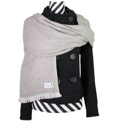 Schal aus Kaschmir und Wolle kastanienfarben