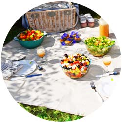 Telo da picnic con rovescio impermeabile
