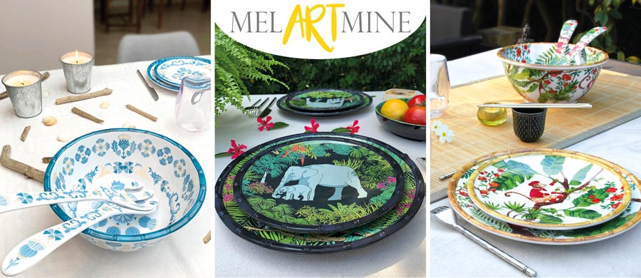 Melamine crockery : design art of entertaining