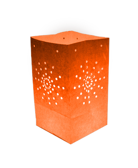 Pack de 10 lanternes de jardin Maya couleur orange