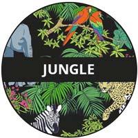 vaisselle en mélamine - thème jungle