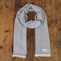 Bufanda de cachemira y lana de Hombre estampado diamante Gris Ratón