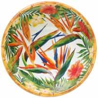 Gran ensaladera profunda - melamina pura - 25 cm - Flores Exóticas