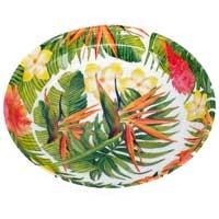 Puur melamine soepbord - 20 cm - Exotische bloemen