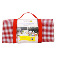 Waterproof picnic blanket red gingham XXL (280 x 140 cm)