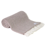 Comfortable throw in cashmere and wool: Chestnut / Brown
