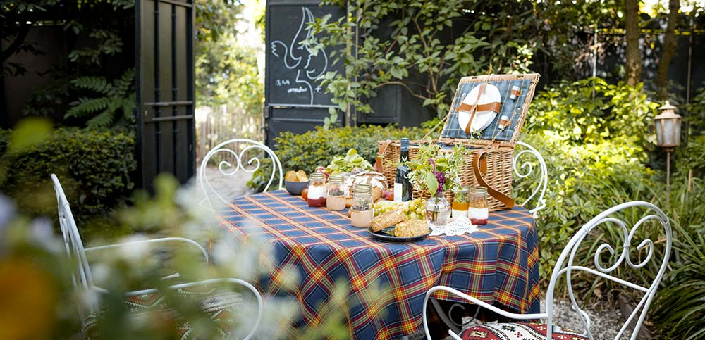 picknickmand voor twee personen, Montmartre Paris