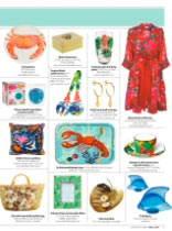 """Our """"Tropical Birds"""" salad servers in The Lady magazine"""