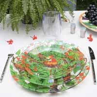 Klein dessertbord Transparante, van gehard glas 19,5 cm - Bali aapjes