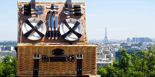 wicker picnic basket by les jardins de la comtesse