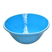 Schale aus reinem Melamin- blau