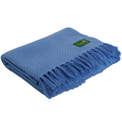 Comfortable throw in cashmere and wool: blue - 130 x 215 cm