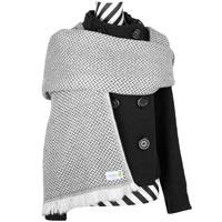 Pashmina cachemira y lana gris
