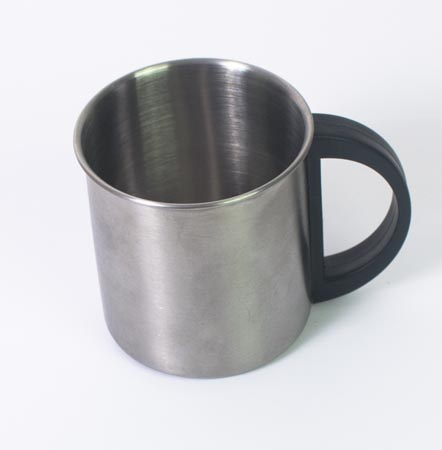 Metal coffee cup - 8 cm