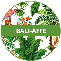 Melamin-Geschirrthema-Affe Bali