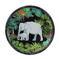 Small plate in melamine jungle