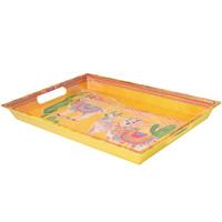 Gran bandeja de presentación impresa - melamina pura - 50 cm - Llamas
