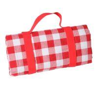 Picknicklaken XL, grote rode ruiten, waterdichte achterkant