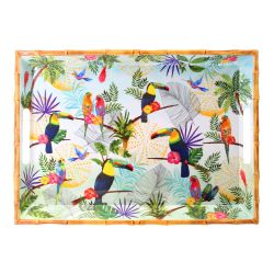 Large tray with handles - 100% melamine  - 50 cm - Toucans of Rio