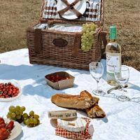 Tovaglia da picnic XXL impermeabile bianca (280 x 140 cm)