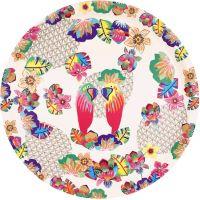 """Round presentation plate  Ø 35 cm - """"Parrots"""""""
