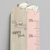 French poplar wood measuring stick Lily the Cat