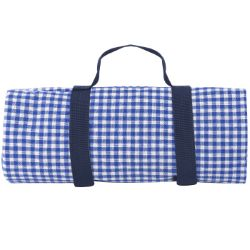 Picnic blanket, with Waterproof backing - Blue gingham, (140 x 140 cm)
