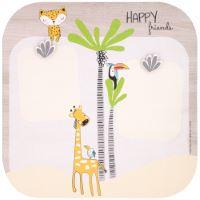 """Grande portafoto multiplo in legno con magnete """"Gigi la giraffa"""" - decorazione da parete"""