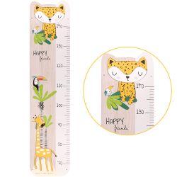 """Houten kindermeetstock """"Gigi de giraf"""" voor de kinderkamer"""