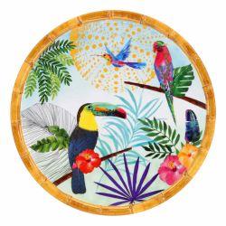 Piatto piccolo 23 cm in melamina quasi infrangibile - Tucani di Rio