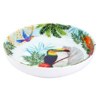 Plato de sopa - Melamina pura - 20 cm - Tucanes de Río