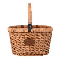 "Bicycle Basket  ""Chantilly"" - Blue - For picnics or shopping"