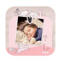 """Marcos de fotos de bebé de madera con imán para la habitación infantil """"Lily la Gatita"""