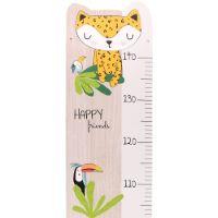 """Toise en bois de peuplier français """"Gigi la girafe""""  - Cadeau bébé / enfant"""