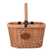 "Fietsmand ""Chantilly"" - Blauw  - for picnics en booschappen"