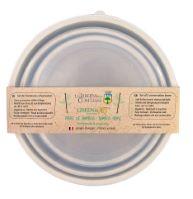 """Set di 3 contenitori per la conservazione in bambù - con coperchio - """"Fiori di campo"""""""