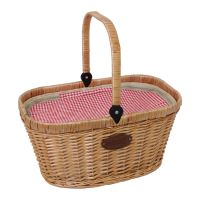 """Insulated wicker hamper gingham """"Chantilly Vichy"""""""