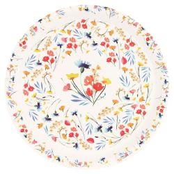 "Round presentation plate Ø 35 cm - ""Wildflowers"""