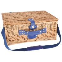 "Picnic basket ""Fontainebleau"" - wicker- 4 people"