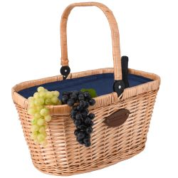 "Insulated wicker hamper ""Chantilly"" - Blue"
