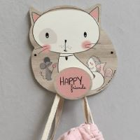 Wooden coat hook Lily the Cat