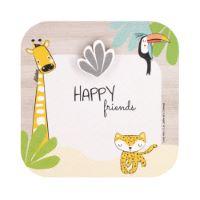 """Portafoto da bambino """"Gigi la giraffa"""" con magnete in legno"""