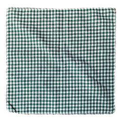 2 napperons en coton - Vichy Vert - 30 x 30 cm