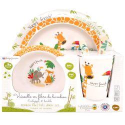"Kit de comida de bambú para bebés ""Gigi la Jirafa"""